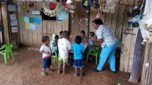 23 MOPI - Lugar Wariquena_Encuentro Tradiconales con niños, Resguardo Wacoyo