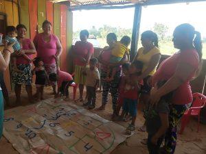 27 MOPI- Juego la escalera socializacion derecho de los niños y niñas, Resguardo Wacoyo
