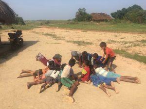 Comunidad Carrizal, encuentro tradicional para el fortalecimiento de las habilidades motrices de las niñas y niños, Resguardo Vencedor