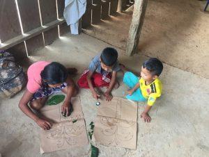 Comunidad Ilusión, niños y niñas reconociendo la importancia de la flora de su territorio, Resguardo Vencedor
